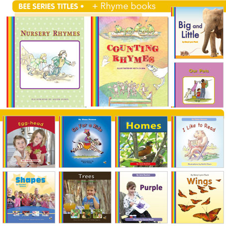Bee Series and rhyme books